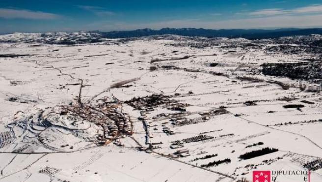 Imagen de la nieve en la provincia de Castellón