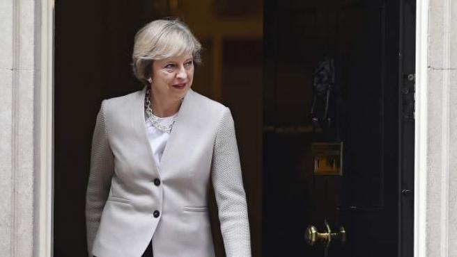 La primera ministra británica, Theresa May, en el número 10 de Downing Street en Londres.