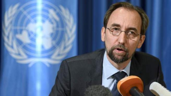 El alto comisionado de Naciones Unidas para los Derechos Humanos, el jordano Zeid Ra'ad al Husein.