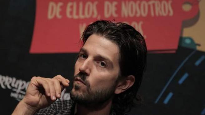 El actor mexicano Diego Luna, en la presentación del libro 'Corrupcionario Mexicano'.