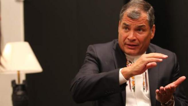 El presidente de Ecuador, Rafael Correa, durante una entrevista concedida a '20minutos'.