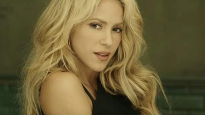 Shakira en el videoclip de 'Chantaje'.