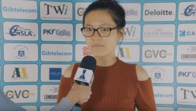 La ajedrecista china Hou Yifan.