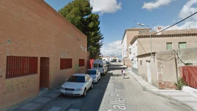 Imagen de la calle Romaneros de Mora, Toledo.