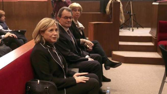 Mas, Ortega y Rigau en el juicio por el 9N.