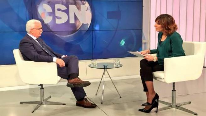 El vicepresidente de la Junta, Manuel Jiménez Barrios, en la entrevista en CSTV