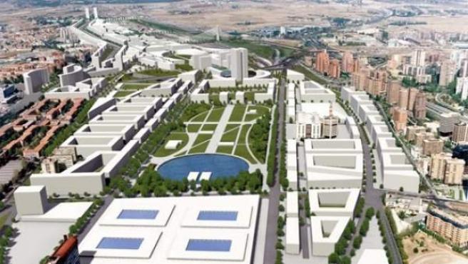 Recreación del futuro proyecto de la operación Chamartín de Madrid.