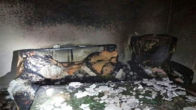 Incendio en una vivienda en Tíjola