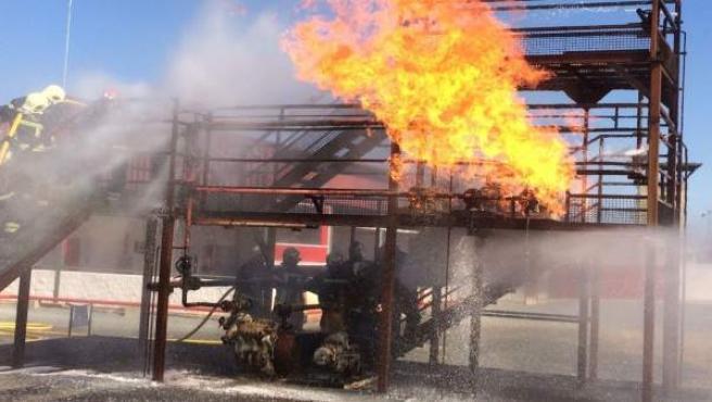 Actuaciones de formación de bomberos