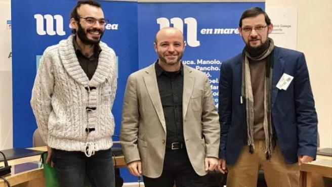 El portavoz parlamentario de En Marea, Luís Villares, con jueces