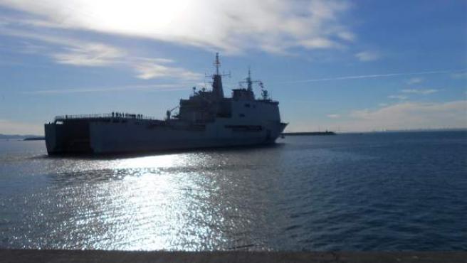 El buque 'Galicia' zarpa para incorporarse a la 'operación Atalanta'