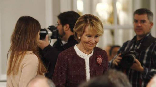 Esperanza Aguirre, en un acto.
