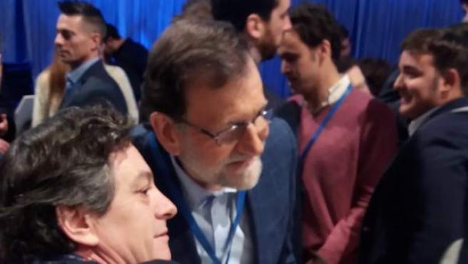 Rajoy, a su llegada a la segunda jornada del XVIII Congreso Nacional del PP.