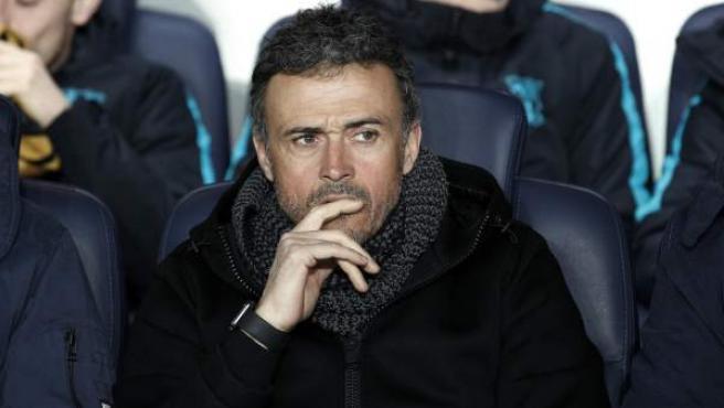 Luis Enrique, exentrenador del Barça, en el banquillo.
