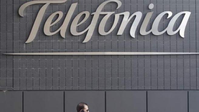 Una imagen del logotipo de Telefónica.