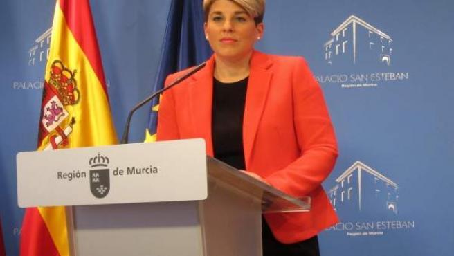 Noelia Arroyo en la rueda de prensa posterior al Consejo Gobierno