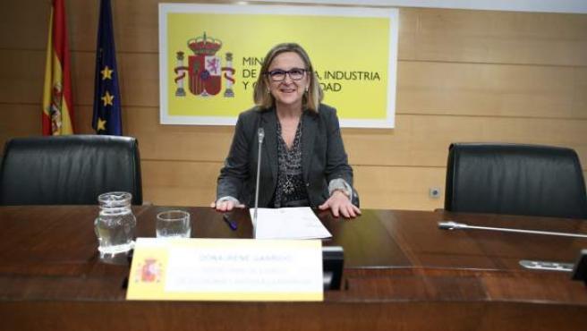 La secretaria de Estado de Economía y Apoyo a la Empresa, Irene Garrido.