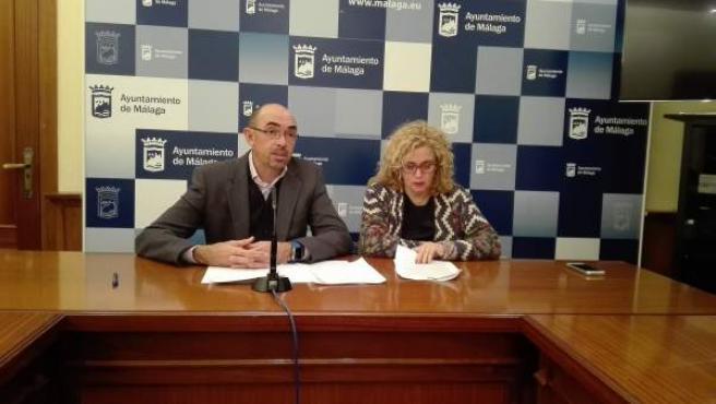 Eduardo Zorrilla y Remedios Ramos en rueda de prensa