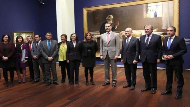 El rey FElipe VI en el Museo de Málaga