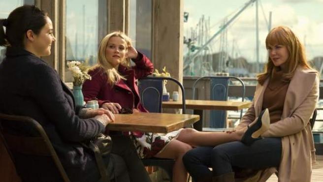 Shailene Woodley, Reese Witherspoon y Nicole Kidman en la serie Big Little Lies.
