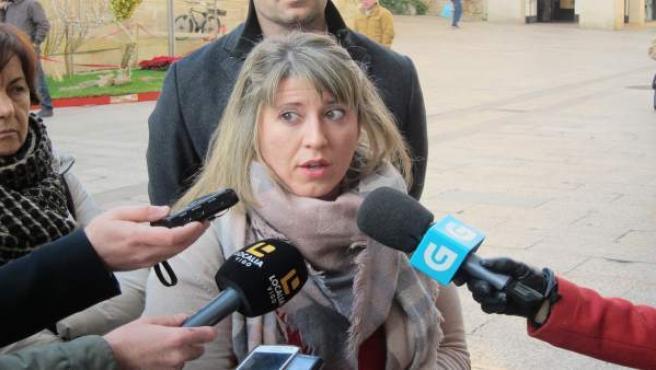La secretaria xeral de Podemos Galicia, Carmen Santos