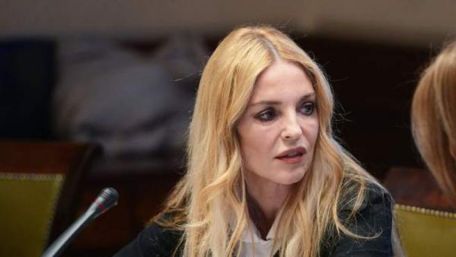 La presidenta del Observatorio contra la Violencia Doméstica y de Género, Ángeles Carmona, en su comparecencia en el Congreso.