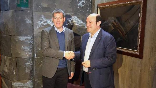 Andoni Ortuzar y Fernando Clavijo