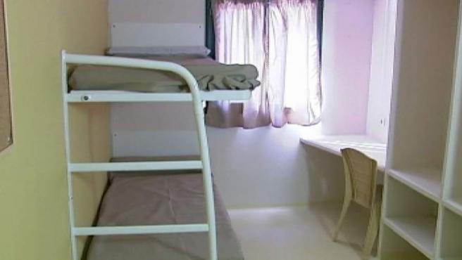 Una imagen de una celda en la prisión de Badajoz.