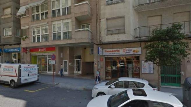 Supermercado Dia en la Avenida As Caldas, Ourense, donde ocurrieron los hechos.