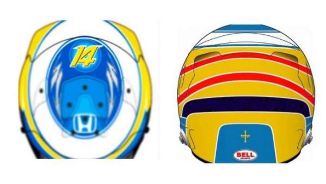 El nuevo casco de Fernando Alonso para el Mundial 2017 de Fórmula 1.
