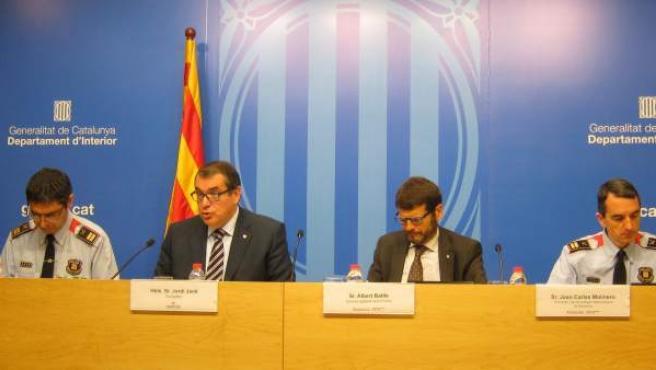 Josep Lluís Trapero, Jordi Jané, Albert Batlle y Joan Carles Molinero.