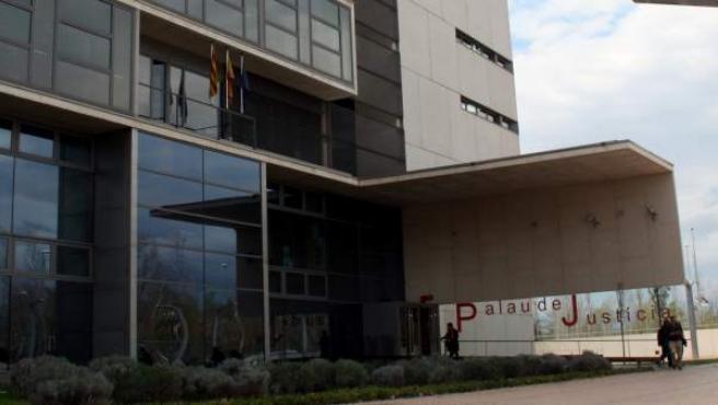 Imagen de la fachada del Palacio de Justicia de Girona.