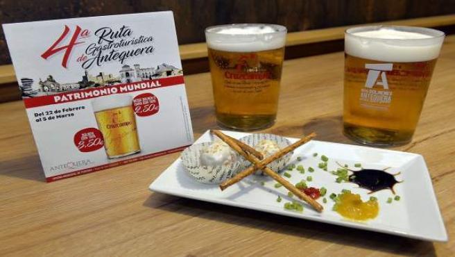 Tapa antequera ruta gastroturística cruzcampo edición gastronomía turismo