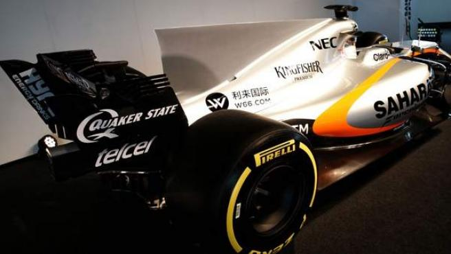 Detalle de la aleta de tiburón del Force India VJM10.