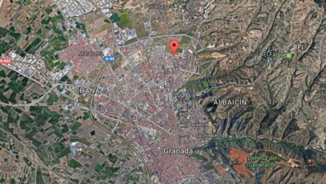 Barrio de la Cartuja, en la ciudad de Granada.