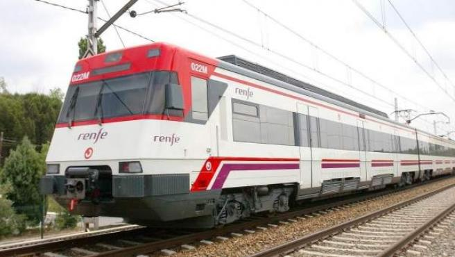 Tren de Cercanías de Renfe.