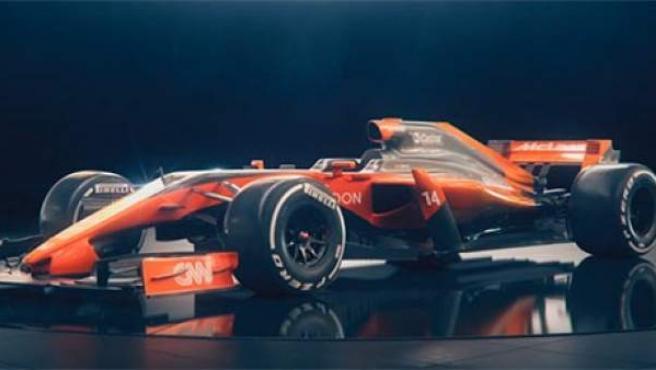 Proyección sobre el futuro McLaren MCL32.
