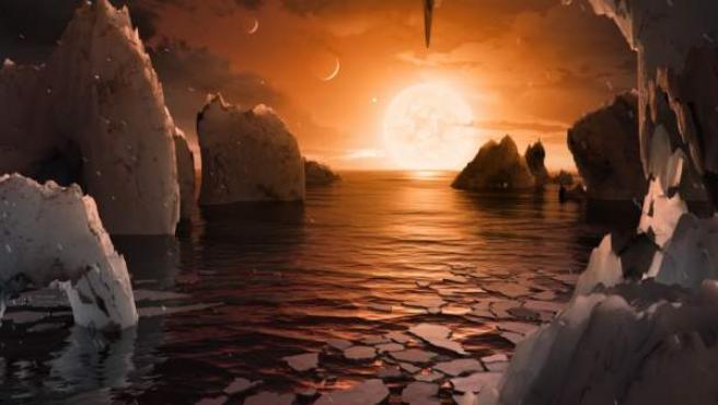 Ilustración de cómo podría ser uno de los nuevos planetas descubiertos por la NASA.