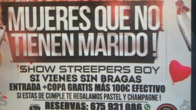 En la imagen el cartel de la discoteca, el Bailódromo Caña Dulce.