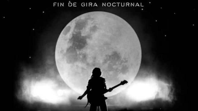 Cartel promocional de la gira 'Nocturnal' de Amaral.