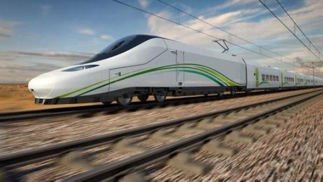 Uno de los trenes AVE de Renfe.