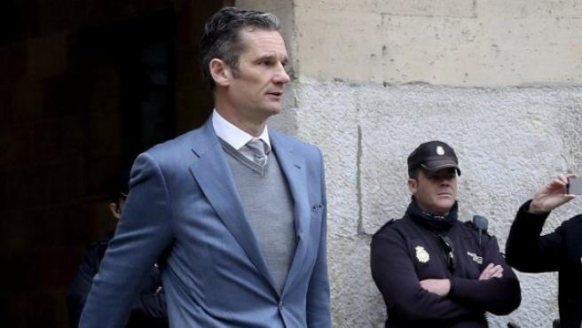 Iñaki Urdangarin, a su salida de la Audiencia de Palma.
