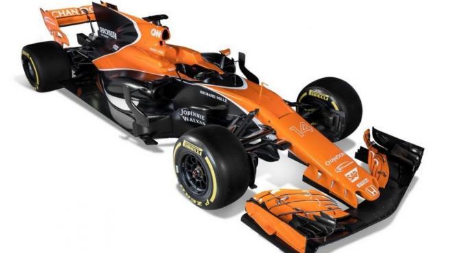 Imagen que muestra el McLaren MCL32, el monoplaza con el que Fernando Alonso disputará el Mundial de F-1 2017.