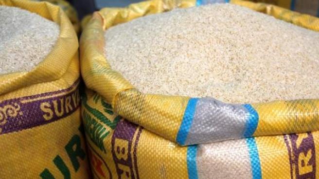 Sacos de arroz.