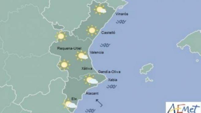 El cielo solo estará parcialmente cubierto en Alicante