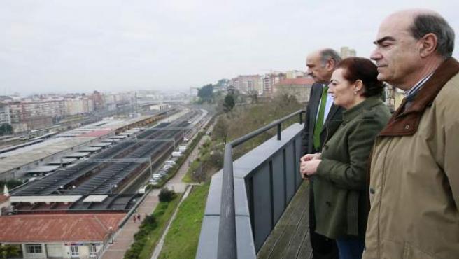 Mazón con la alcaldesa de Limpias