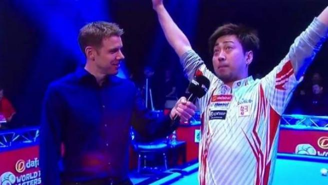 Naoyuki Oi, jugador japonés de billar, en su surrealista entrevista para Sky Sports.