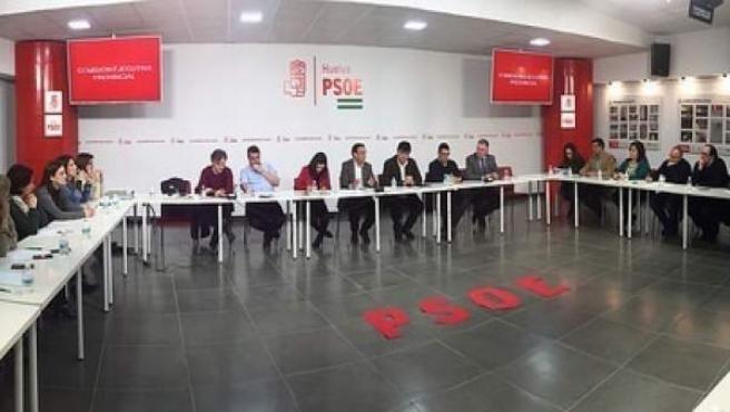 Reunión de la Ejecutiva provincial del PSOE de Huelva