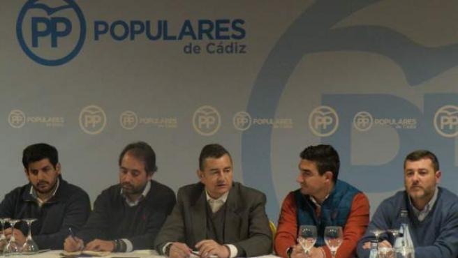 Reunión de Antonio Sanz con presidentes locales del PP de Cádiz