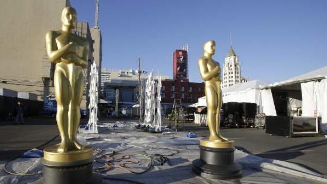 Preparativos para la gala de los premios Oscar de la Academia.